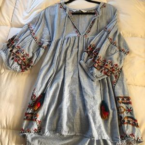 Zara Striped Dress with Detail